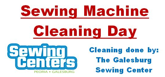 Sewing Machine Cleaning Day