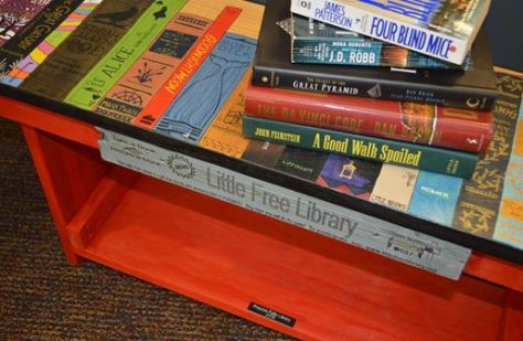This BENCH, designed and painted by artist Ellie Barbeau sits proudly at the  Princeton Library.