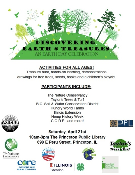 Earth Day Celebration April 21 |